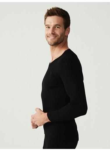 U.S. Polo Assn. Termal Erkek Uzun Kol T-Shirt Siyah